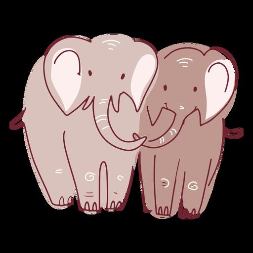 Valentine elephants couple