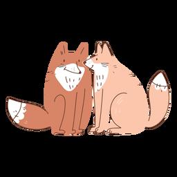 Casal de raposas dos namorados