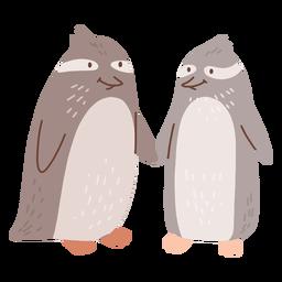 Casal de pinguins dos namorados