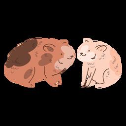 Casal de esquilos dos namorados