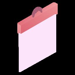 Dia dos namorados em branco placa de papel isométrica