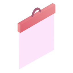 Valentines blank paper board isometric