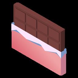 San Valentín chocolate lindo isométrico