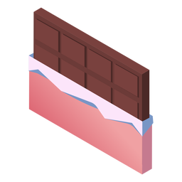 Valentines chocolate cute isometric