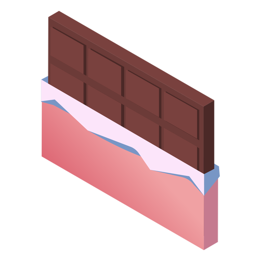 Valentines chocolate cute isometric Transparent PNG