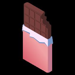 Chocolate de San Valentín isométrico