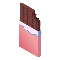 Valentines chocolate isometric