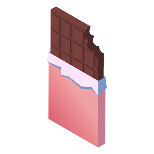 Valentines chocolate isometric