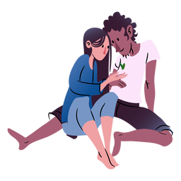 Valentines couple isometric