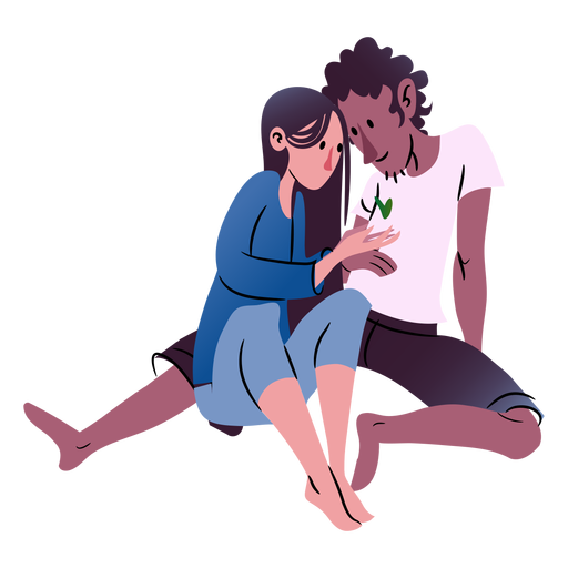 Valentines couple isometric Transparent PNG