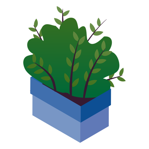 Valentines cute potted plant isometric