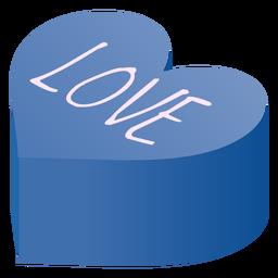 Corazón de san valentín amor isométrico