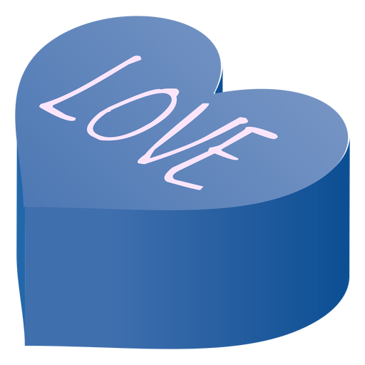 Valentines heart love isometric Transparent PNG