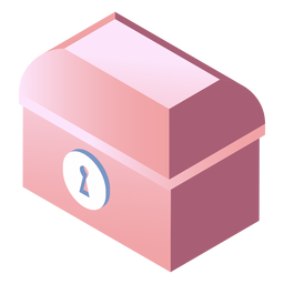 Valentines locked box isometric
