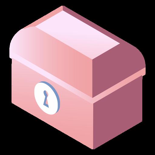 Valentines locked box isometric