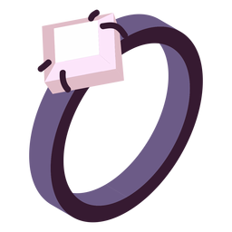 Valentines ring isometric