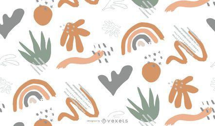 Diseño de patrón de naturaleza abstracta