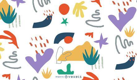 Design colorido abstrato patten