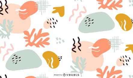 Diseño de patrón artístico abstracto