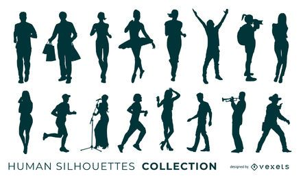 Coleção de silhuetas humanas