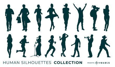 Sammlung der menschlichen Silhouetten