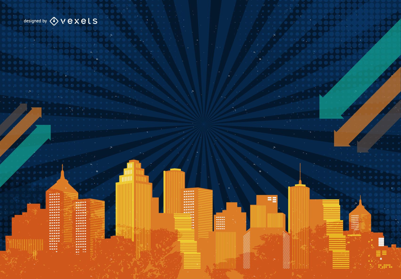Abstract city illustration