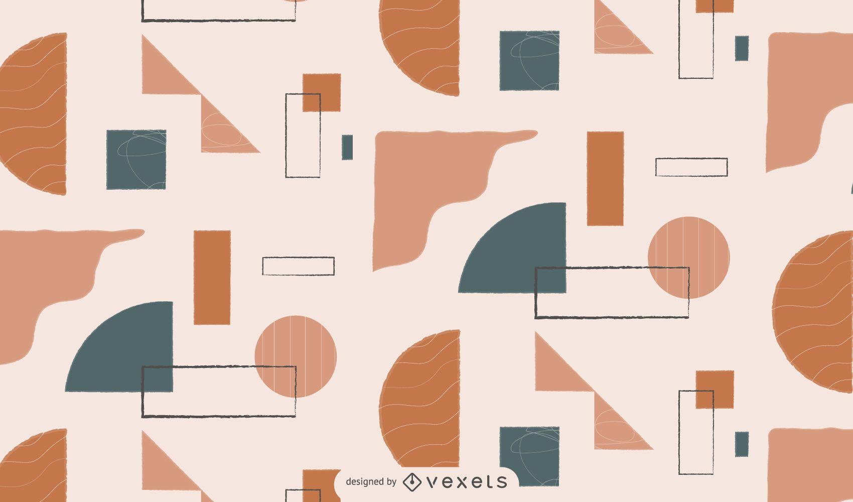 Diseño de patrón geométrico abstracto