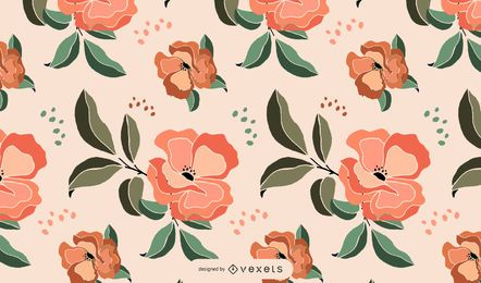 Artistic flowers pattern design