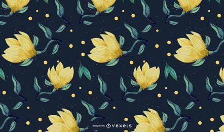Design de padrão floral em aquarela
