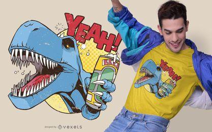 Design bêbado do t-shirt de Dino