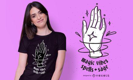 Design de t-shirt de vibrações mágicas