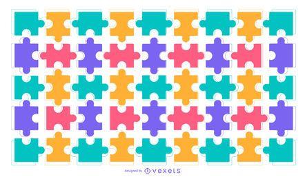 Fundo colorido quebra-cabeça