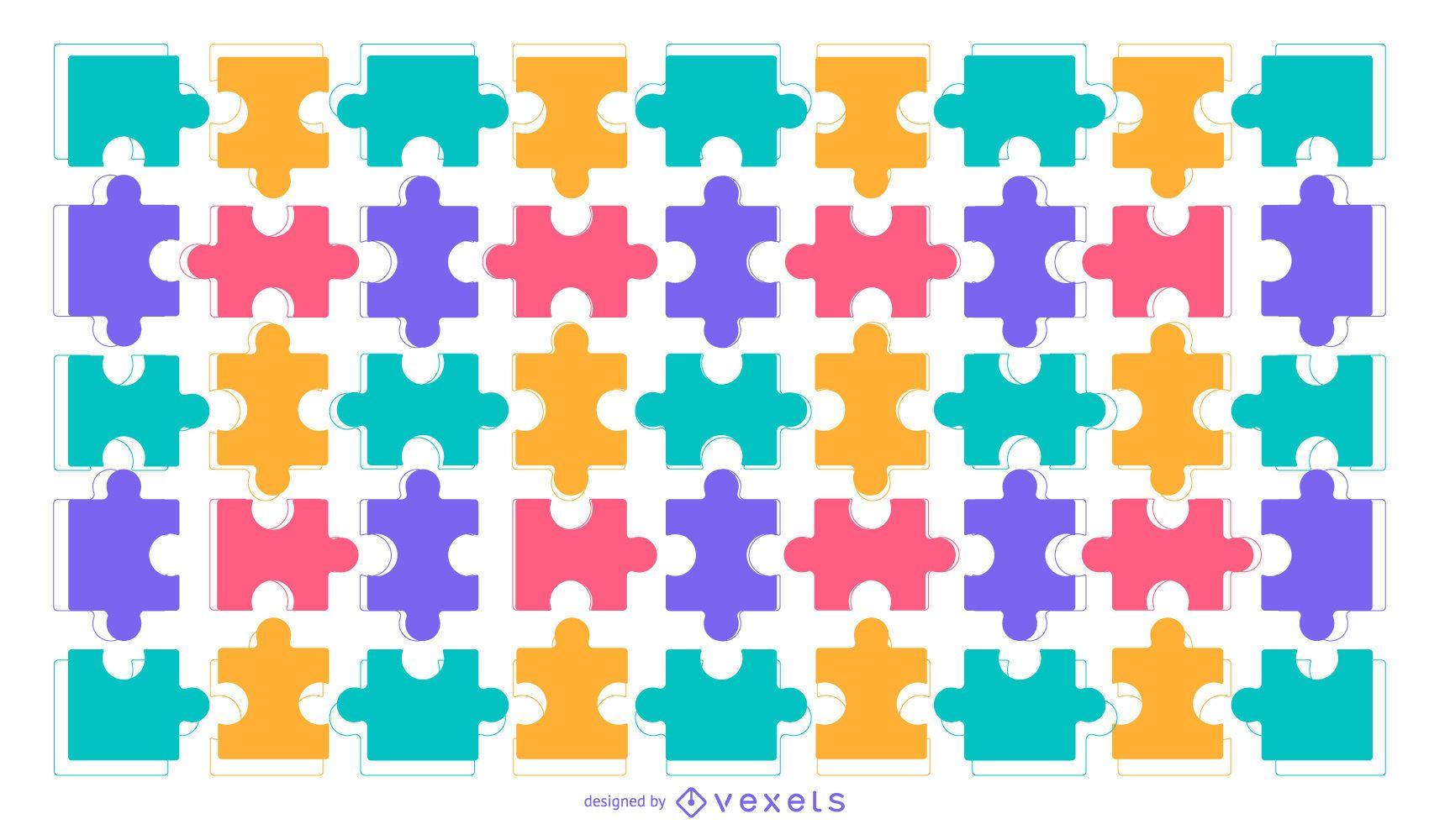 Fundo de quebra-cabeça colorido