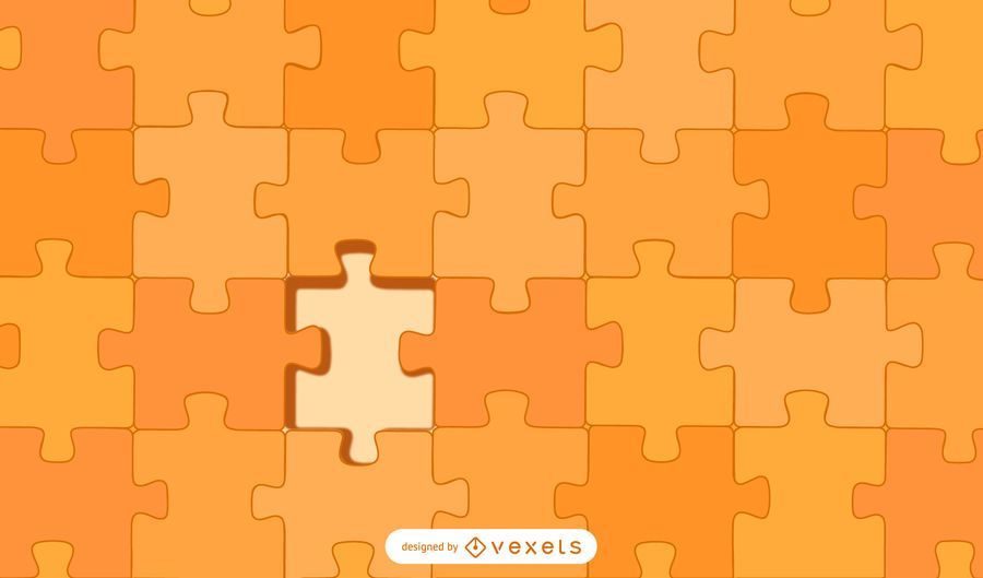 orange puzzle design background