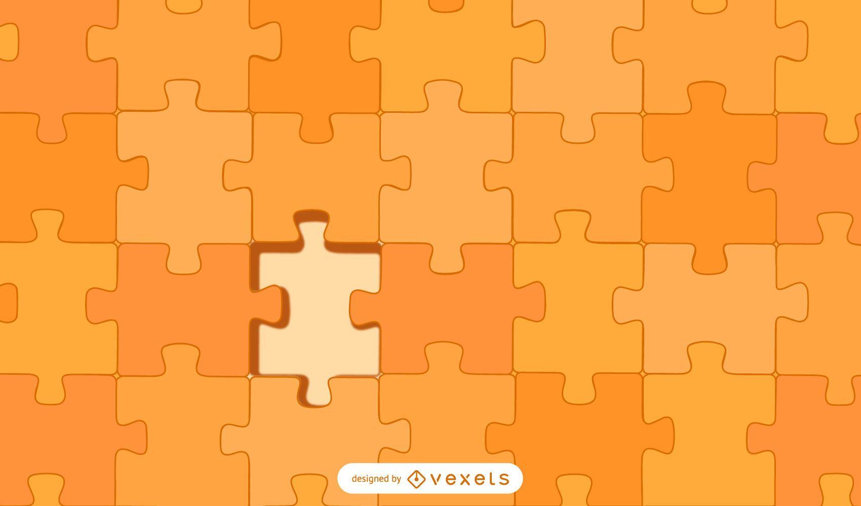 fundo laranja de design de quebra-cabe?a