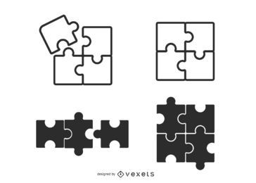 conjunto de coleta de peças de quebra-cabeça