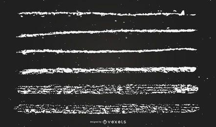 ilustração de linhas de giz
