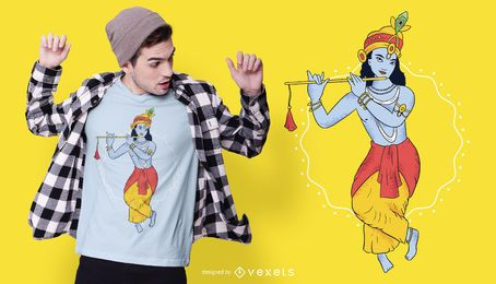 Diseño de camiseta de Lord Krishna