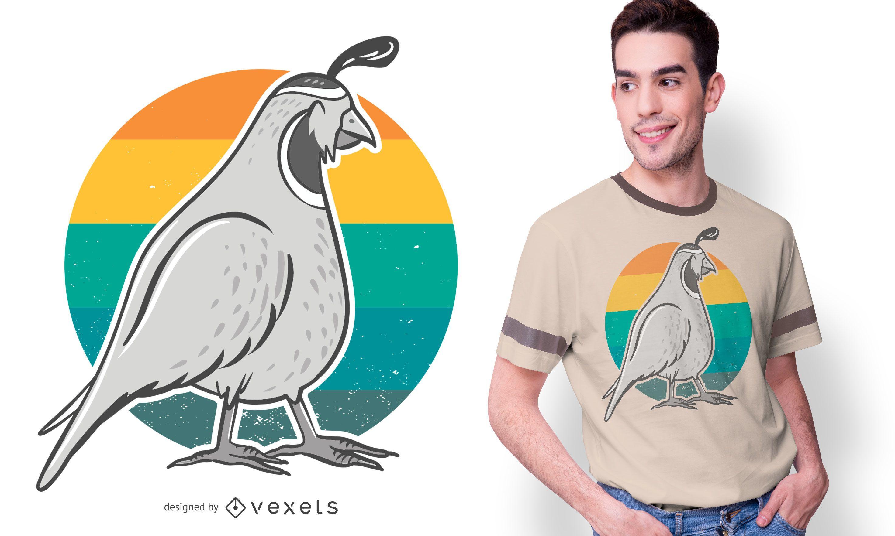Diseño de camiseta Vintage Quail