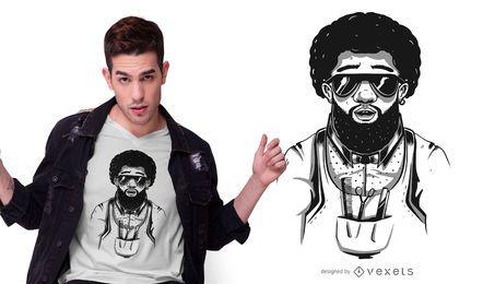 Diseño de camiseta Afro Barber
