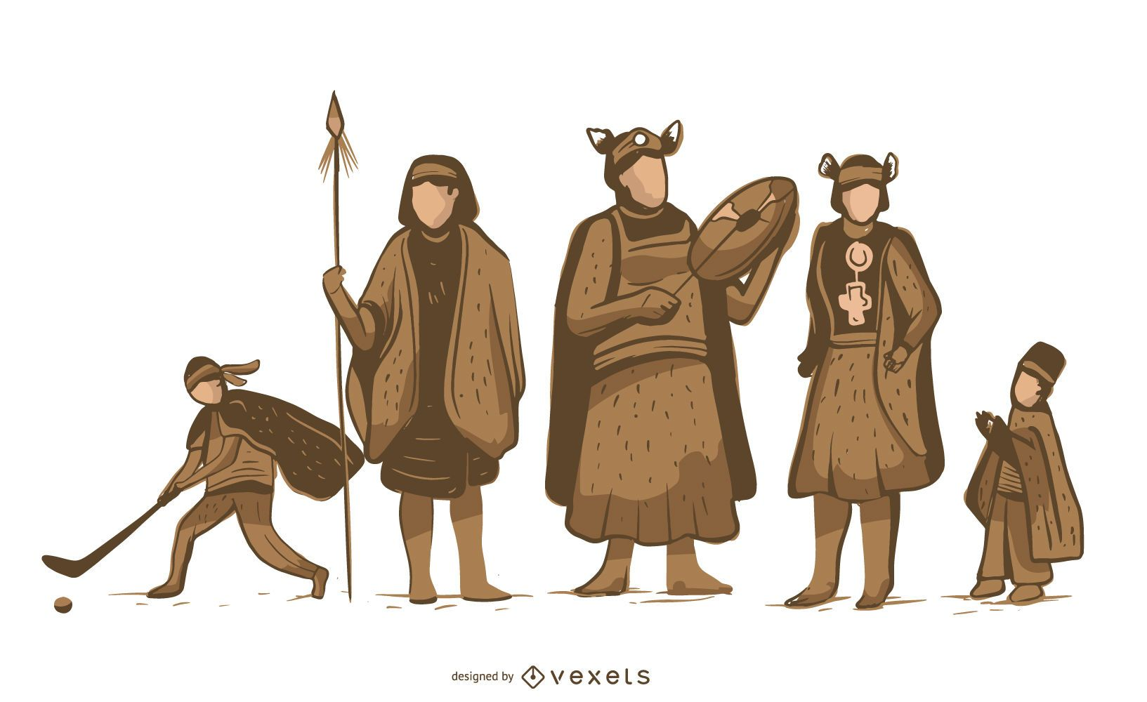 Mapuche Indigenous Character Pack
