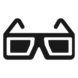 Gafas 3d negro
