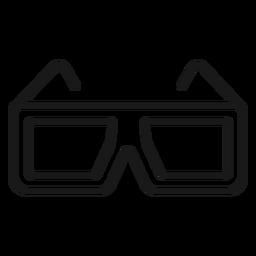 Trazo de gafas 3d