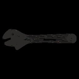 Chave ajustável mão desenhada