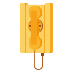 Antique telephone illustration