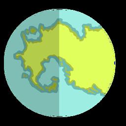 Tierra de eón arcaico plano