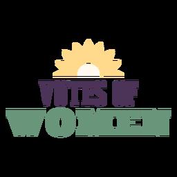 Votos de emblemas para mulheres