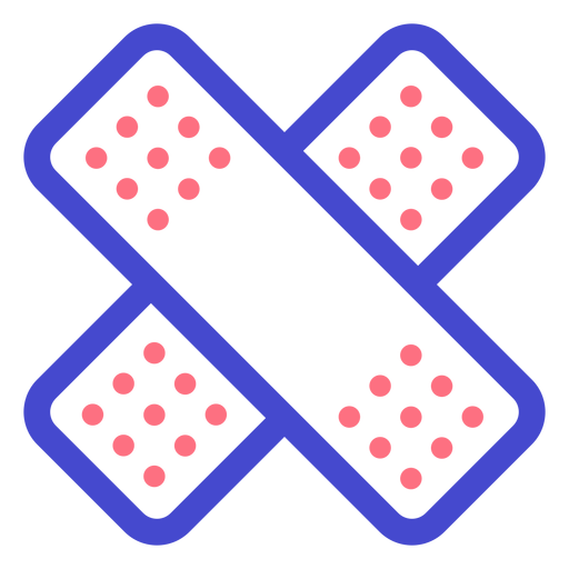Icono de trazo de tiritas