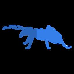Hormiga azul plana