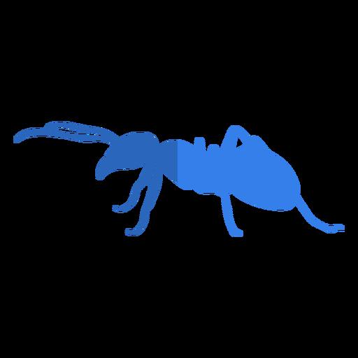 Blue ant flat Transparent PNG